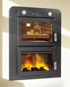 Cocinas y hornos de le a biotrafor - Cocinar horno de lena ...