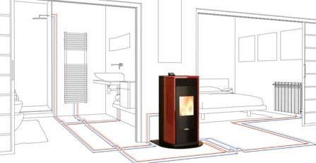 Estufas de pellet biotrafor for Caldera de pellets para radiadores